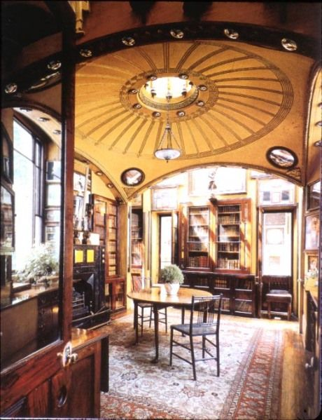 John Soane House, London - John Soane Shallow domes or hidden lights with lighting effects pg 472