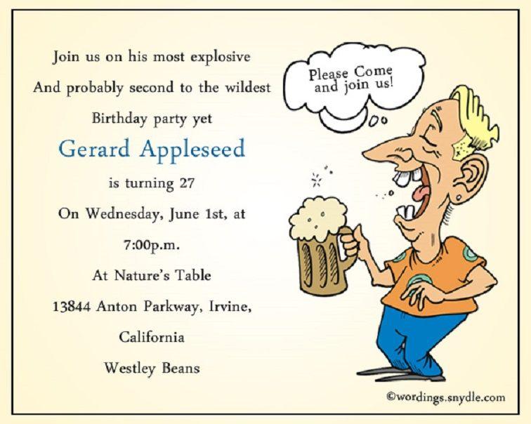 70th Party Humorous Invites Birthday