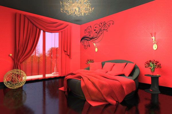 Red Bedroom Wall Painting Ideas Design Ideas