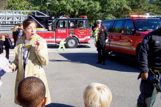 Marriage Proposal At A Fire Department For A Kindergarden Teacher