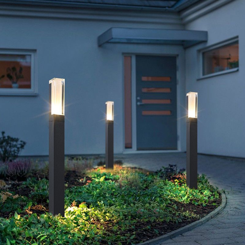 Donwei Outdoor Led Garden Lawn Lights Modern Aluminum Led Lawn Lamps 10w Led Lan Solar Landscape Lighting Lawn Lights Modern Outdoor