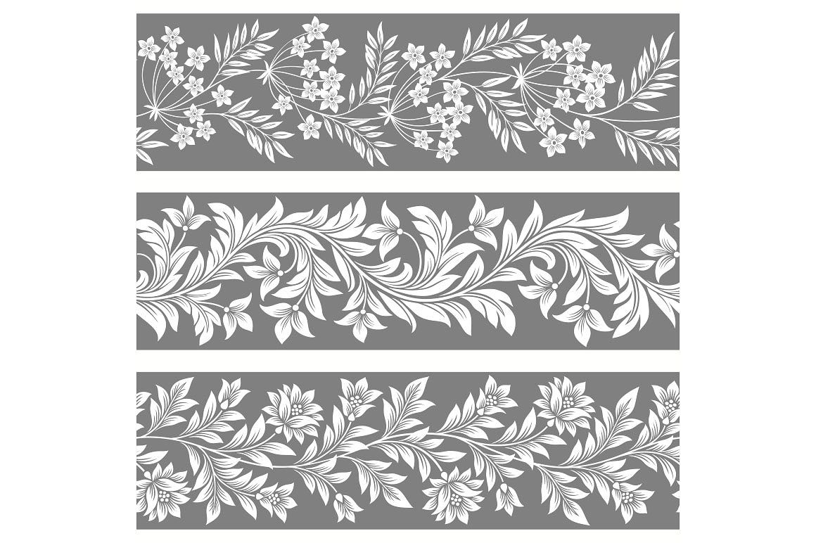 Seamless Floral Patterns Floral Pattern Monochrome Pattern Pattern