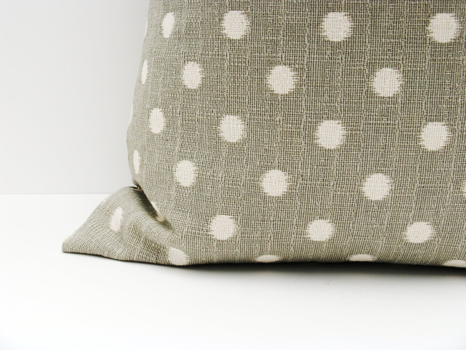 Gray Pillow Sets. 18x18 inch. Ikat pillow cover. Set of TWO . Decorative pillow covers. printed fabric on front and back. $36.00, via Etsy.
