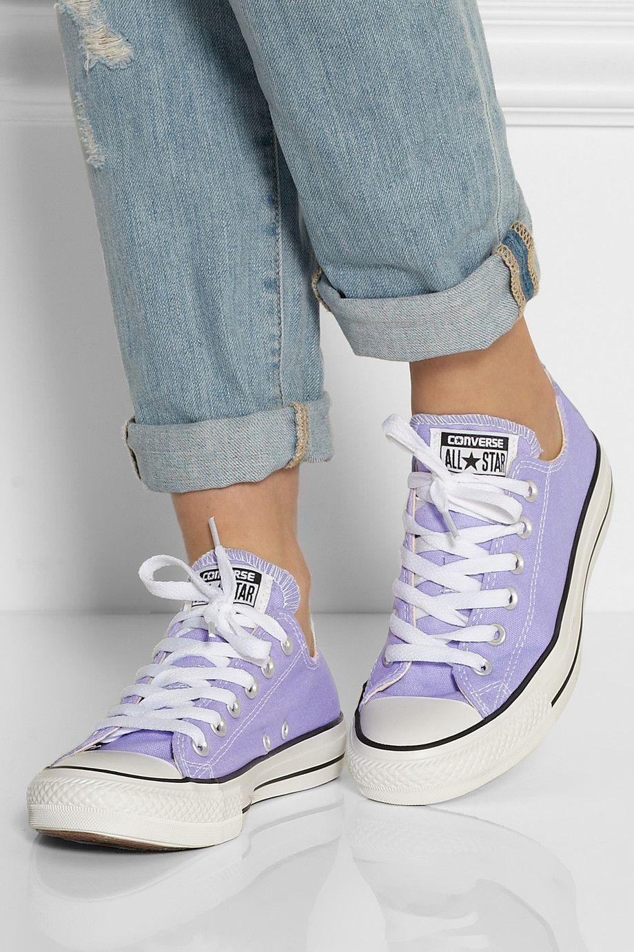 Lavender Chuck Taylor All Star Canvas Sneakers Converse Converse Shoes Outfits With Converse Converse