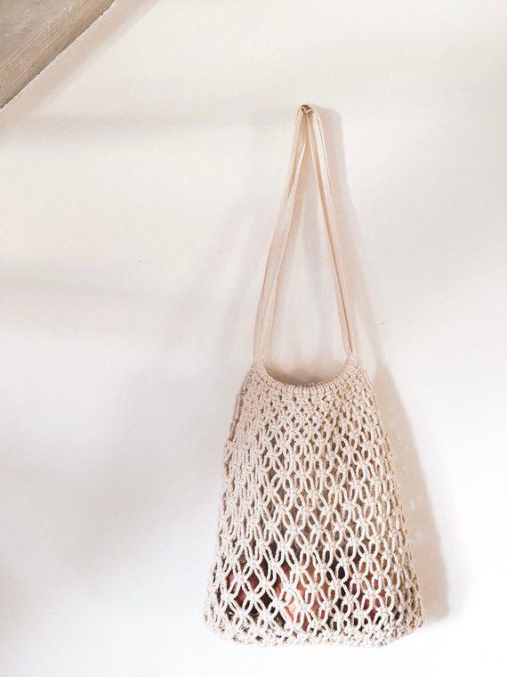 Macrame bag - Sac filet - Macrame nest bag