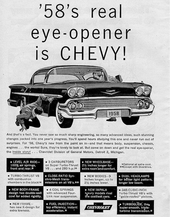 1958 chevy impala ad