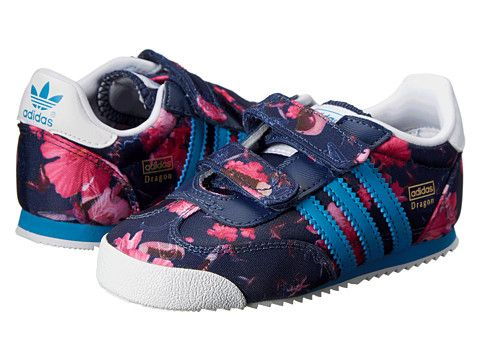 Adidas Originals Kids Dragon (Toddler) floral print / bold Aqua / CORE