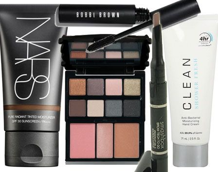 Some products I want to try: Dual Lotion/ Hand Sanitizer from CLEAN, Tinted Moisturizer from NARS,  Brow Pencil which has on one side an angled pencil and the other a sculpting gel from SmashBow Tech to Go