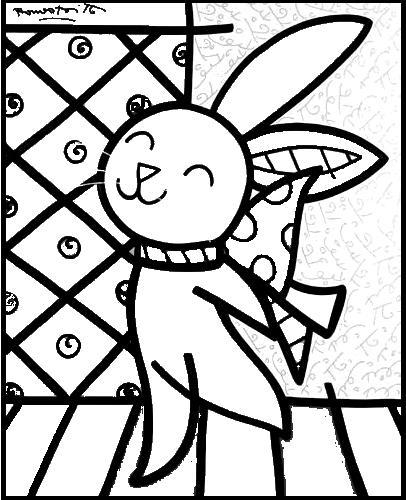 Desenho Romero Britto Para Pintar Coelho Romero Britto