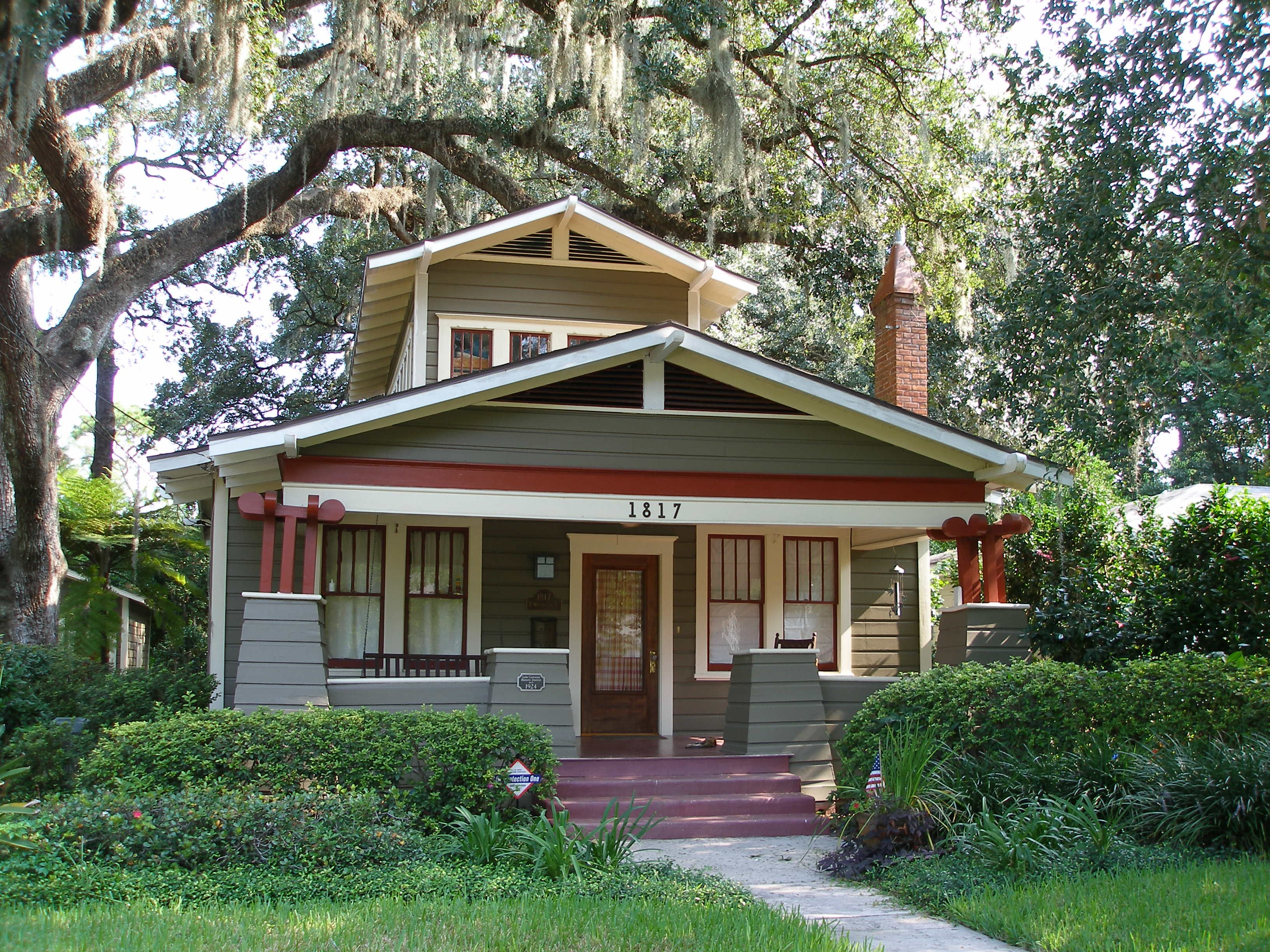 Classic craftsman bungalow colors orlando historic for Craftsman home builders