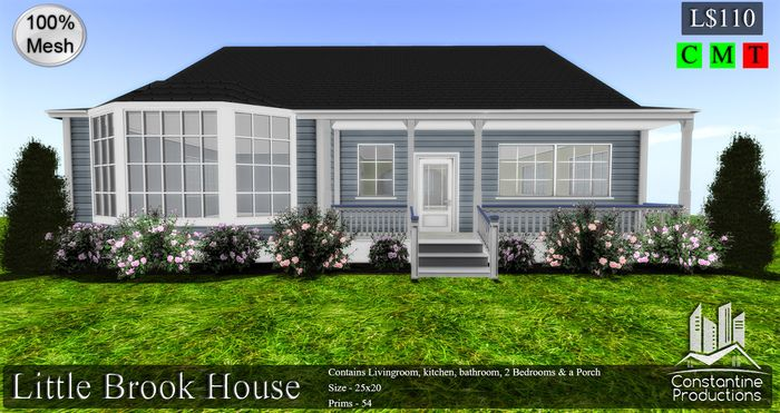 -CP- Unfurnished Little Brook House 100% Mesh