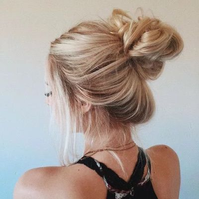 252380 Blonde Messy Bun Jpg 400 400 Hair Styles Thin Hair Updo Messy Hairstyles