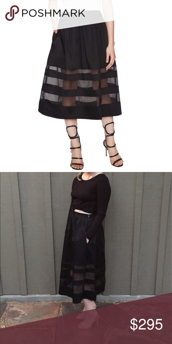 89bdb8fa69 Misha Nonoo Jenny Black Midi Meghan Markle Skirt Worn by Duchess Meghan  Markle! Spectacular Misha