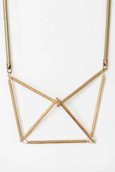 Gabriela Artigas Geometrical Chest Plate Necklace - Urban Outfitters
