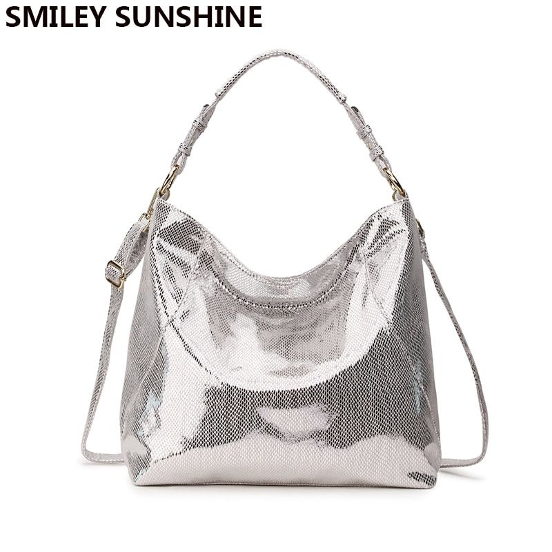 a3638860d515 SMILEY SUNSHINE luxury brand women bag leather handbag big hobo ...