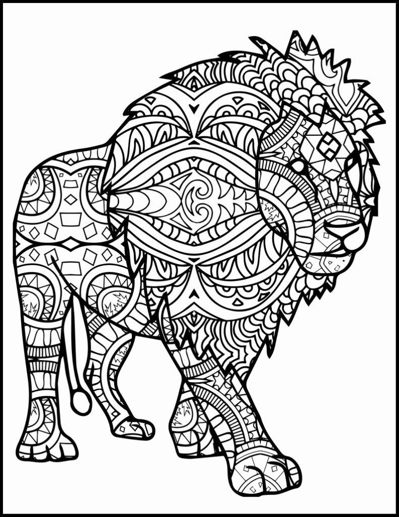 Printable Lion Coloring Page En 2020 Mandalas Para Pintar Pdf