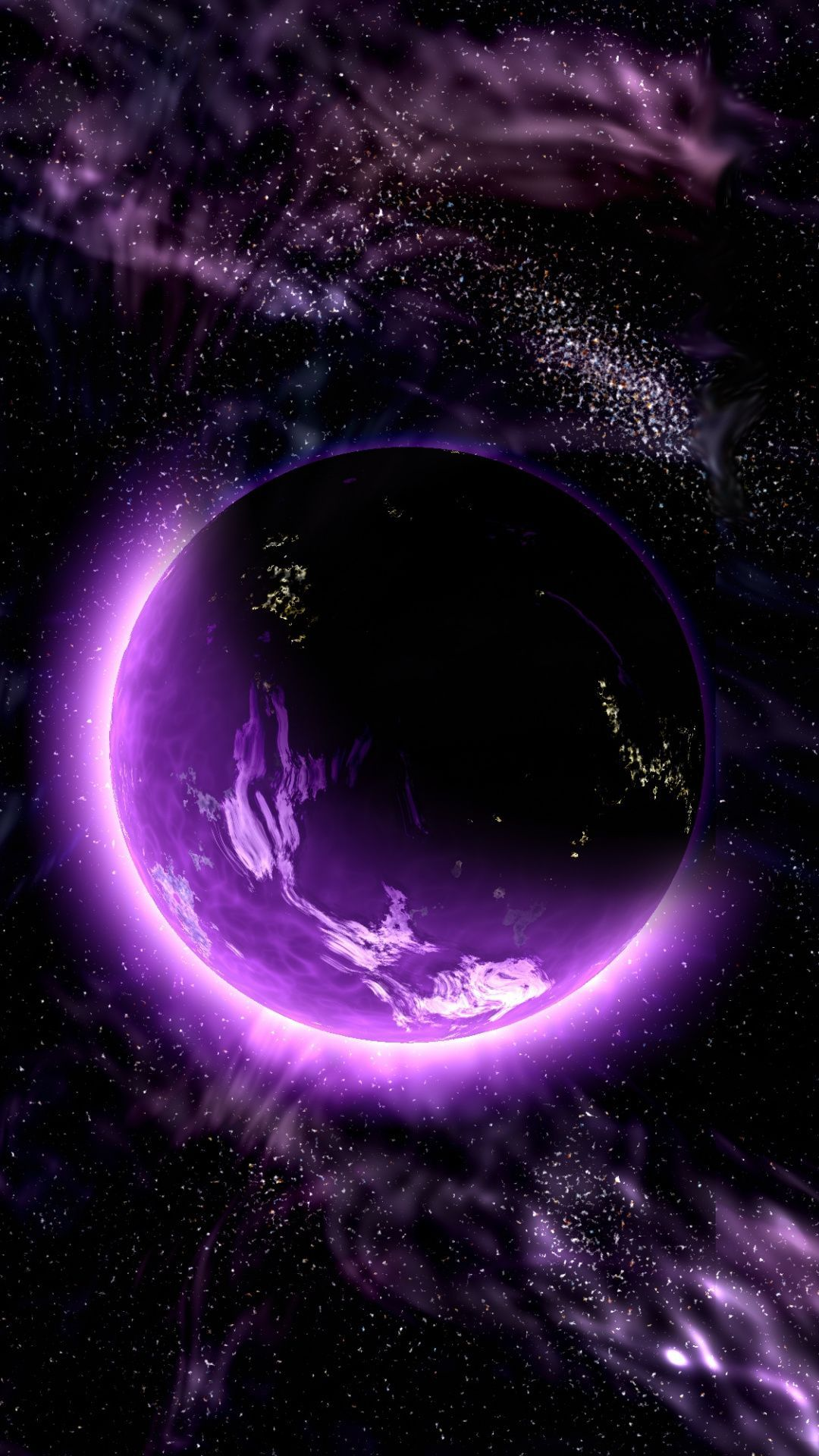 Обои atmosphere, violet, colors. Космос foto 7