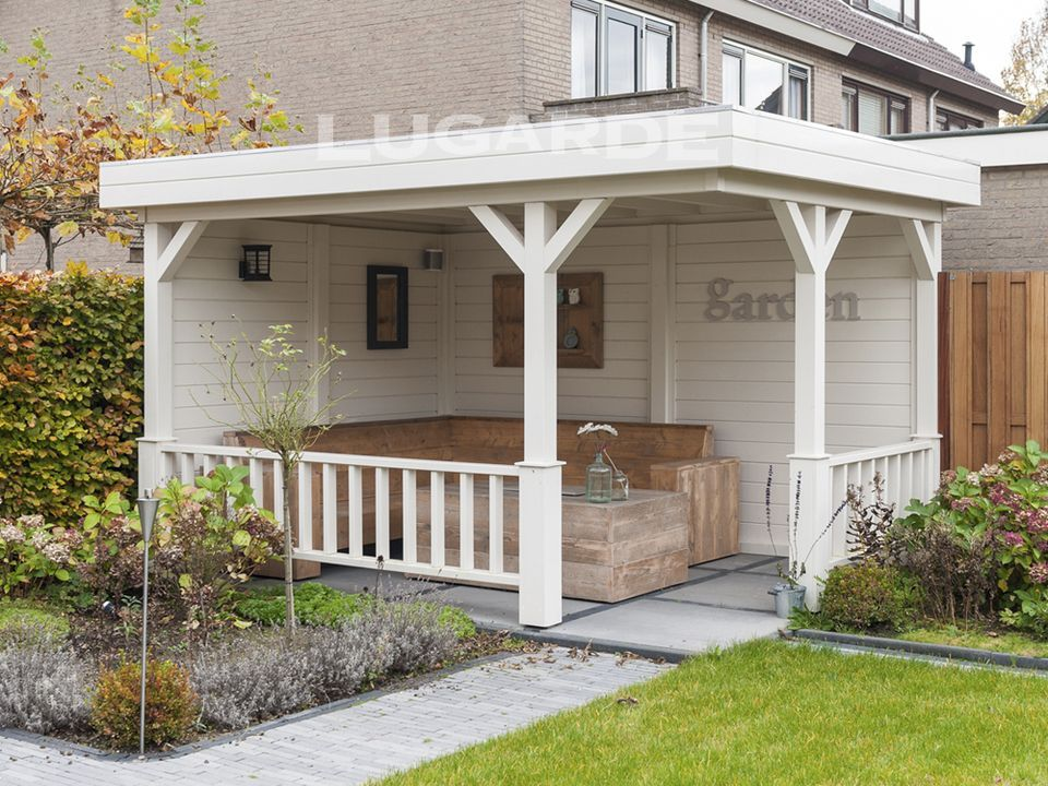Flat Roof Gazebos Archives Keops Interlock Log Cabins Wooden Gazebo Summer House Garden Garden Buildings