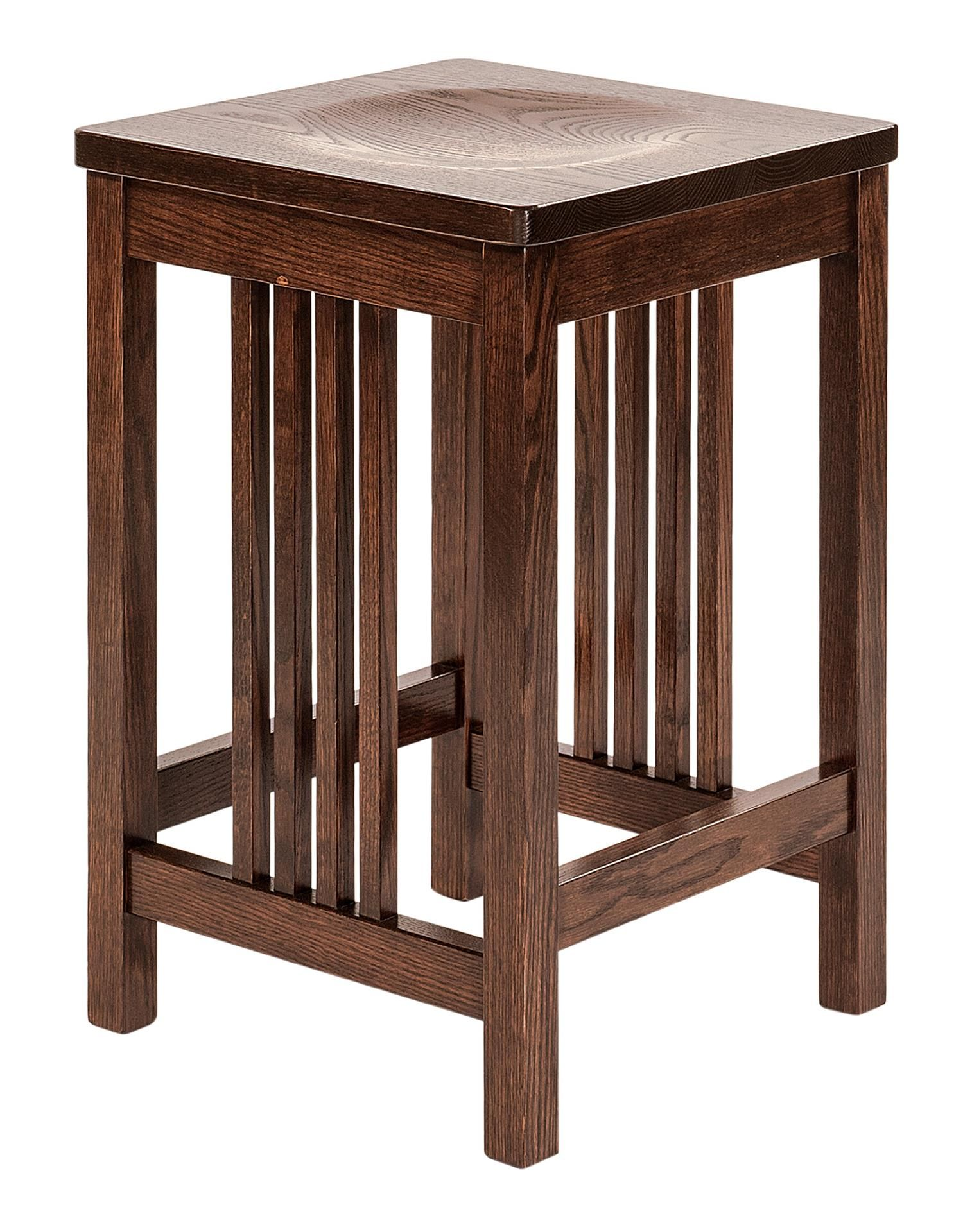 Amish Griffin Mission Barstool Shown here in oak wood the Griffin