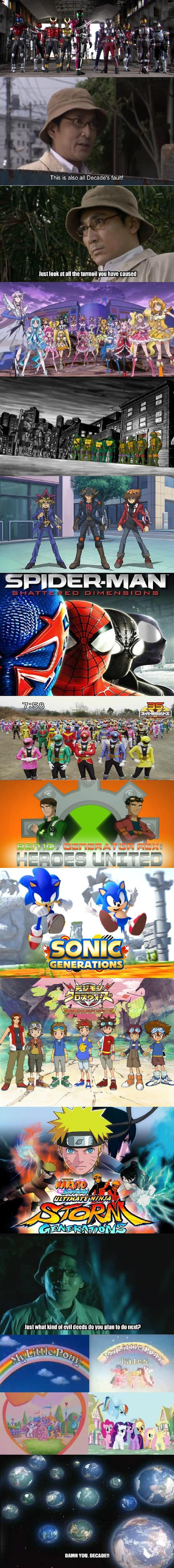Generation Crossovers Are Decade S Fault Kamen Rider Kamen Rider Kamen Rider Series Rider