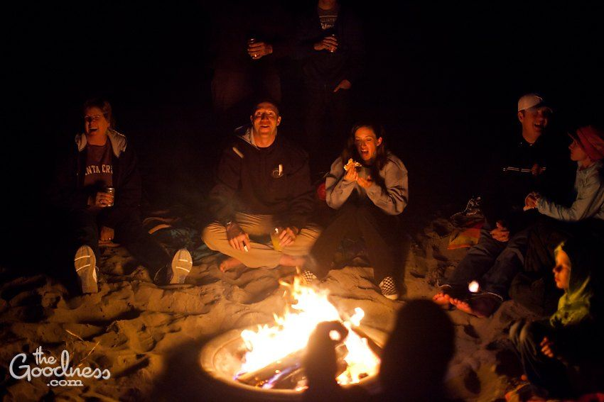 Add a beach bonfire with s/mores - watch the sunset ...