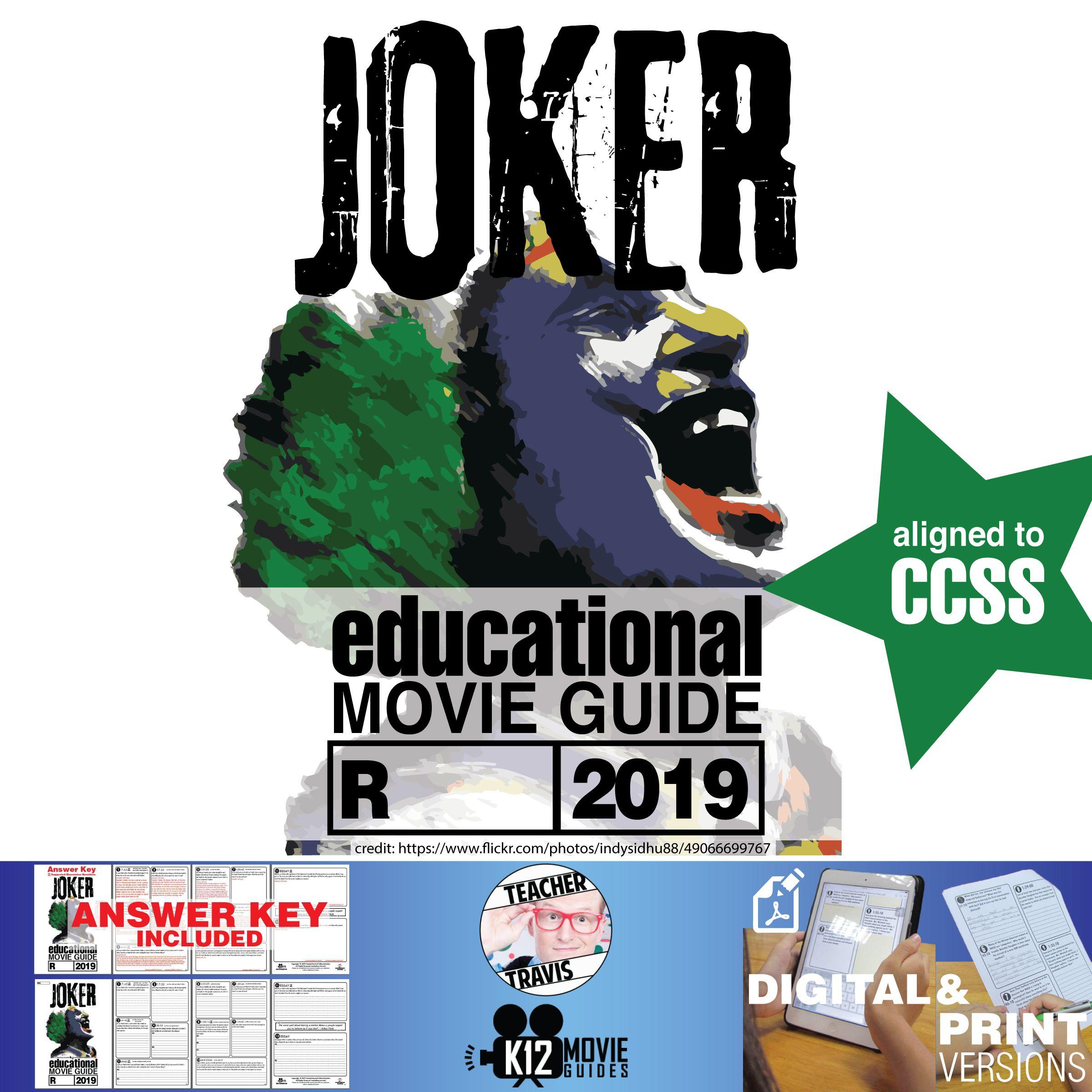 Joker Movie Guide Questions Worksheet R