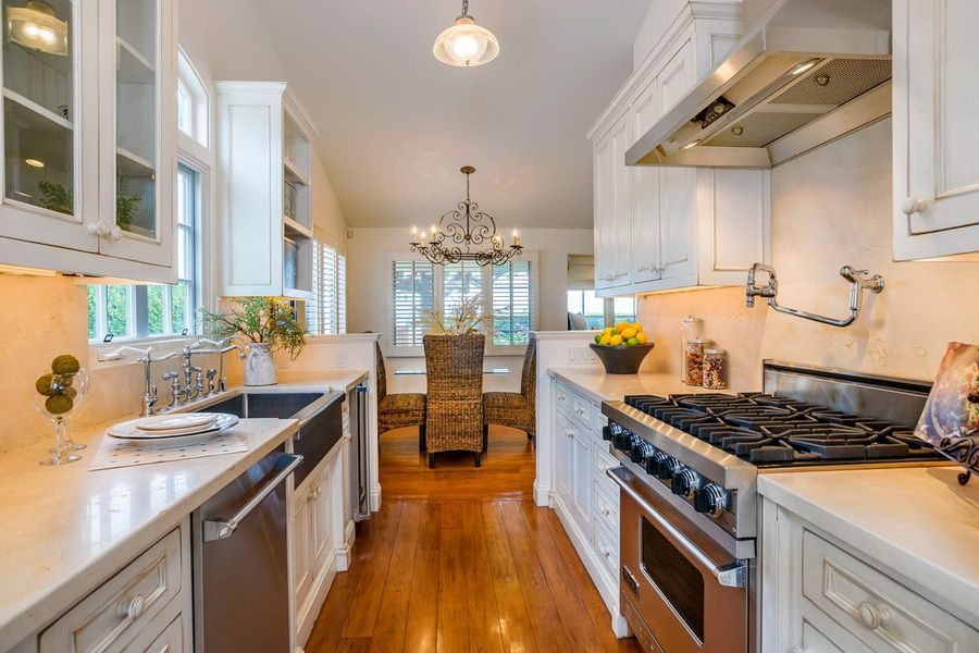 Exciting Beach House Galley Kitchen Design White Cupboard Home Pinterest Galley