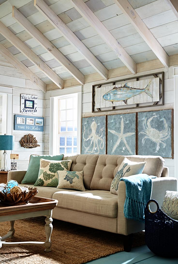 Nautical Home Decor Canada Coastal Decor Style Beach Living Room