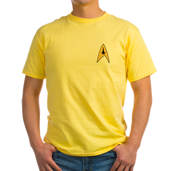 Star Trek, TOS, uniform insignia. This Starfleet commander emblem looks cool on a t-shirt, hoodie, or sweatshirts! Great Christmas, holiday or any occasion gift for men, women and kid trekkies!