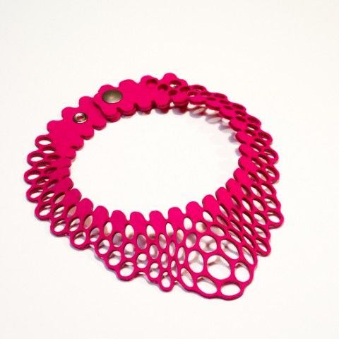 Radial Necklace I at Nervous System| artsy forager #necklace #jewelry #3d printed jewelry