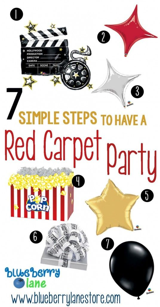 """Find out how to make yourself a superstar with our """"7 Simple Steps to have a Red Carpet Party"""" http://www.blueberrylanestore.com/7-simple-steps-to-have-a-red-carpet-party/"""