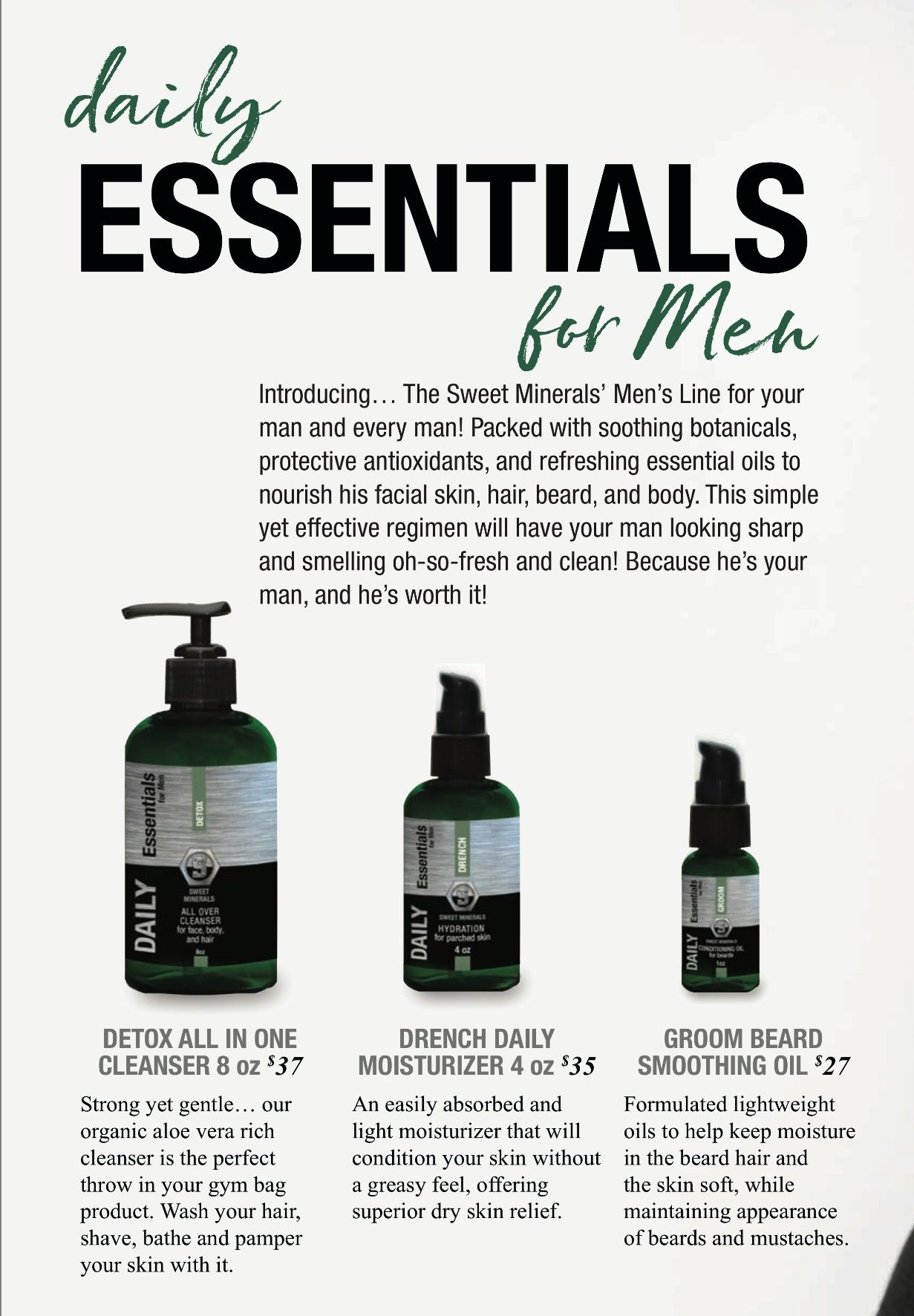 2018 Sweet Minerals Catalog Preview Can T Believe We Added A Men S Skin Hair Beard Line Grab Some For Yo Beard Line Hair And Beard Styles Pure Makeup