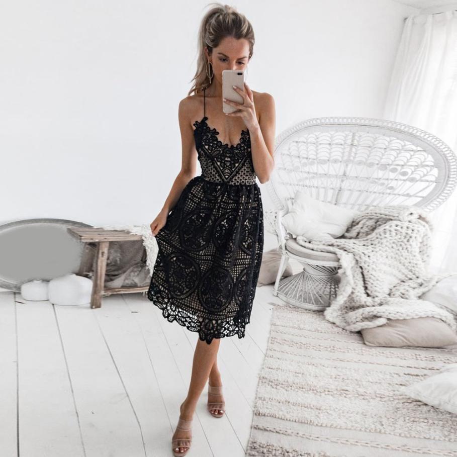Nowosc Sukienka Agristi Rozmiary S Xl 2 Kolory Biala Z Cielista Podszewka Oraz Czarna C Lace Midi Dress Homecoming Dresses Party Dresses For Women