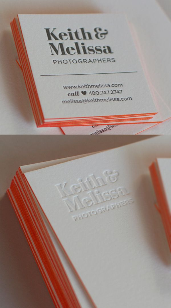 Keith & Melissa: Photographers Business Card | Business Card ...