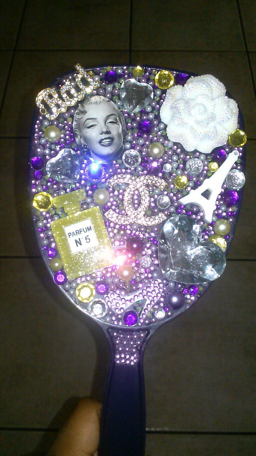 Royal Monroe Hand Held Mirror Mirror Crafts Diy Crystals Customised Mirrors