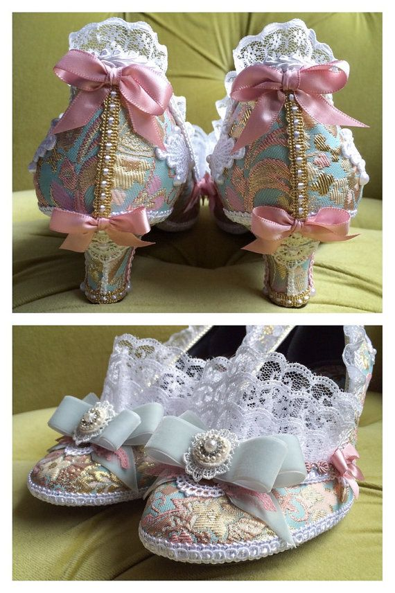 Marie Antoinette Costume Heels Shoes Rococo by HexHeartHollow