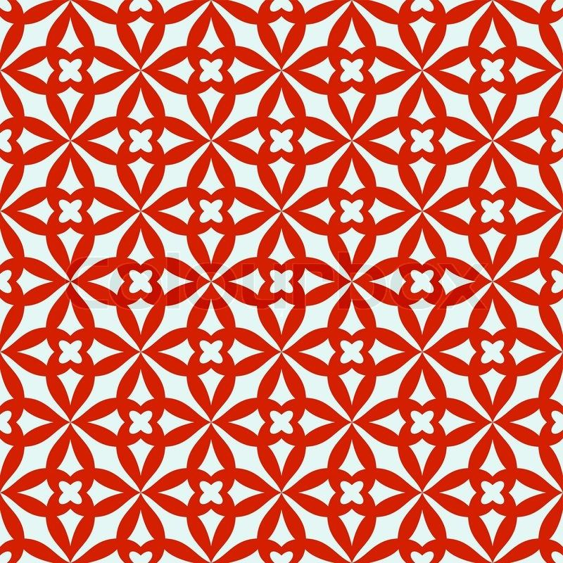 Abstract Geometric Background Trendy Seamless Patternred And White Fabric Retro Style Cute Wrapping Paper For Design