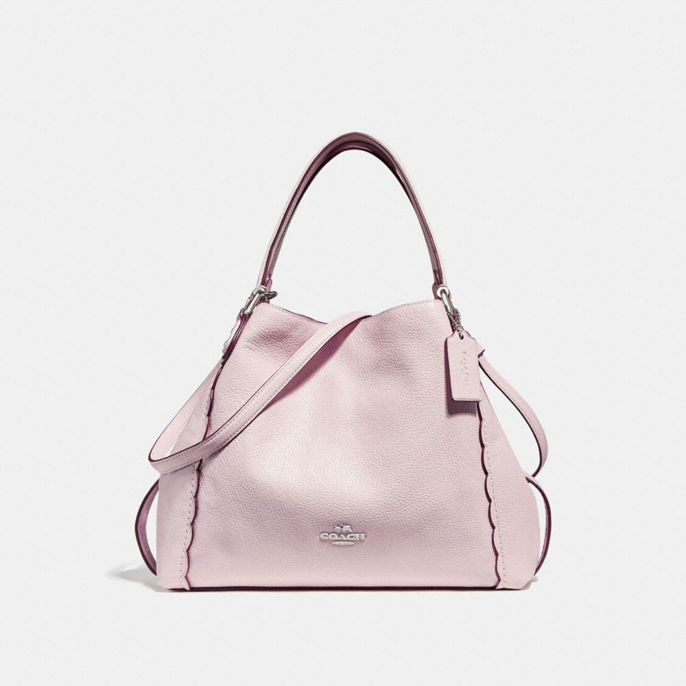 Coach Edie Shoulder Bag 28 With Scalloped Detail - Ice Pink Silver ... cec39ab332627