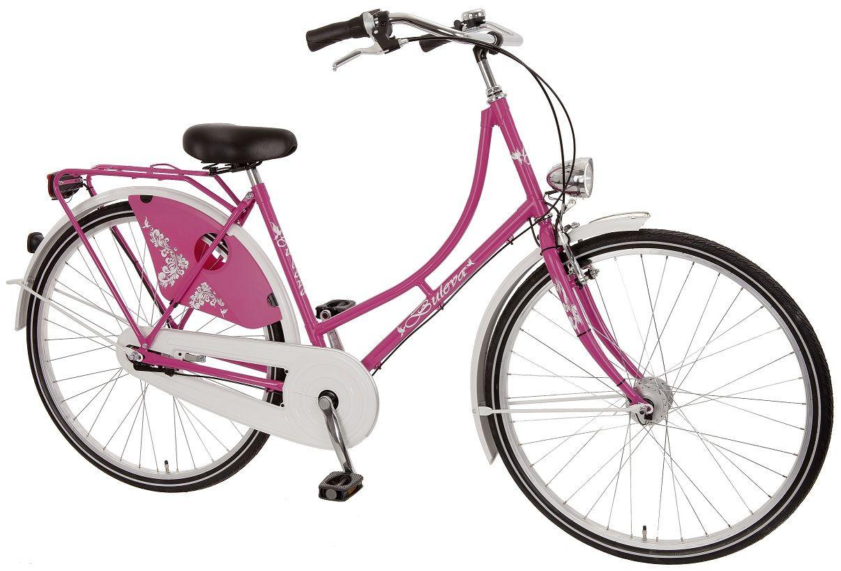 Hollandrad weiß pink