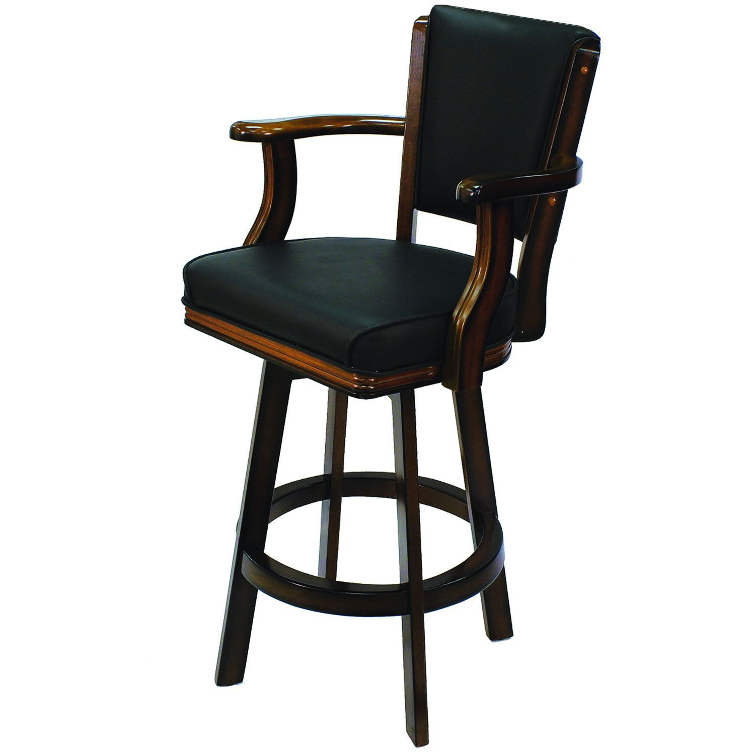 Chestnut Backed Bar Stool with Arms & Swivel