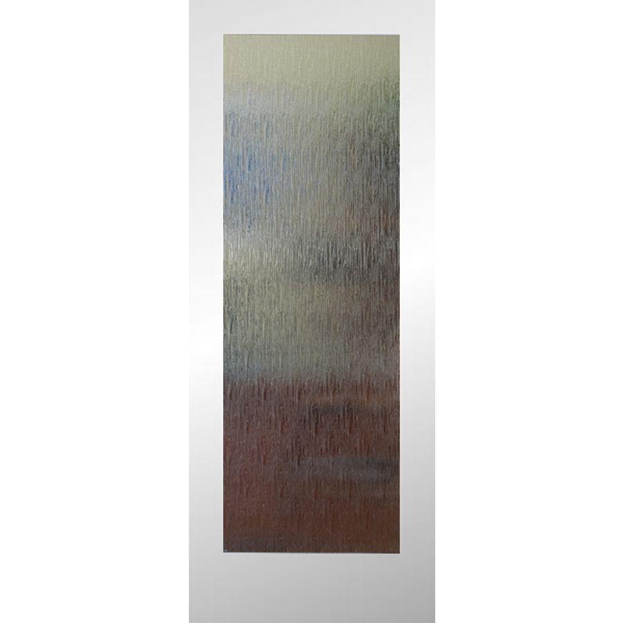 Reliabilt Primed Full Lite Patterned Glass Pine Slab