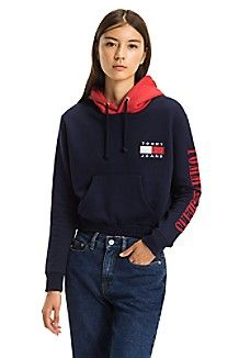 82e252026bf TOMMY JEANS CROPPED HOODIE