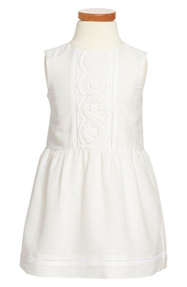 Burberry 'Nonette' Stripe Lace Placket Dress (Toddler Girls) available at #Nordstrom