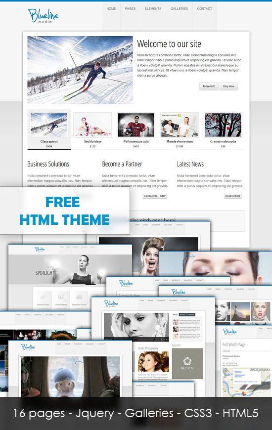 Ultra Clean Blueline Html5 Template Html5 Templates Free Html Website Templates Templates