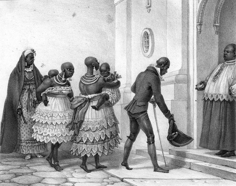 Le baptême dans une église catholique, le Brésil, 1816-1831