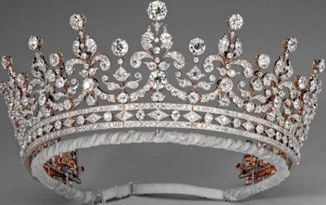 In 1893, a committee of ladies from the British Isles and Ireland banded together to raise money for a wedding gift for the (then) Princess Mary of Teck. Headed by Lady Eve Greville, the committee raised over £5,000, was able to purchase the diamond tiara from Garrard, London and had leftover money to boot. They did this because…well, people just banded together and presented grandiose gifts in the Nineteenth century. The leftover sterling went to charity at the request of the Princess Mary.