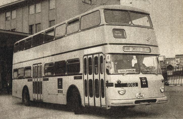 1963-64, con autobus FIAT 412 Aerfer