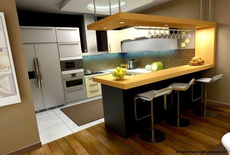 Cuisine Ouverte Sur Salon Petite Surface | kitchi | Pinterest | Kitchens