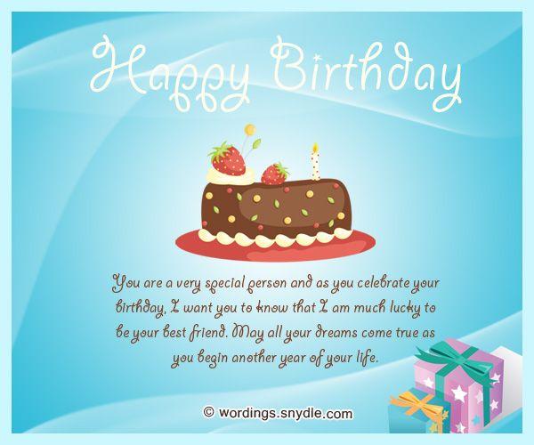 Best Friend Birthday Messages Happy Birthday Wishes for A Best – Birthday Card Message for Best Friend