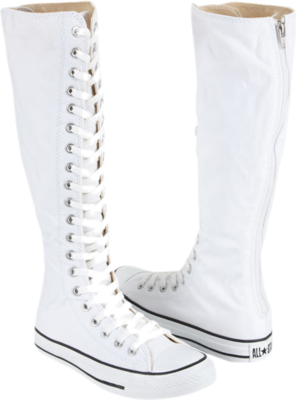 2a5ec7627ca4f3 white knee high converse!! I want to have a summer wedding so I can be  outside and wear these with a short dress